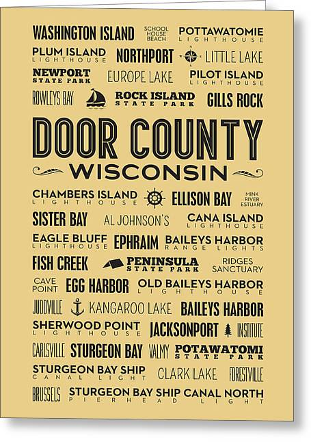 Places Of Door County On Goldenrod Greeting Card by Christopher Arndt