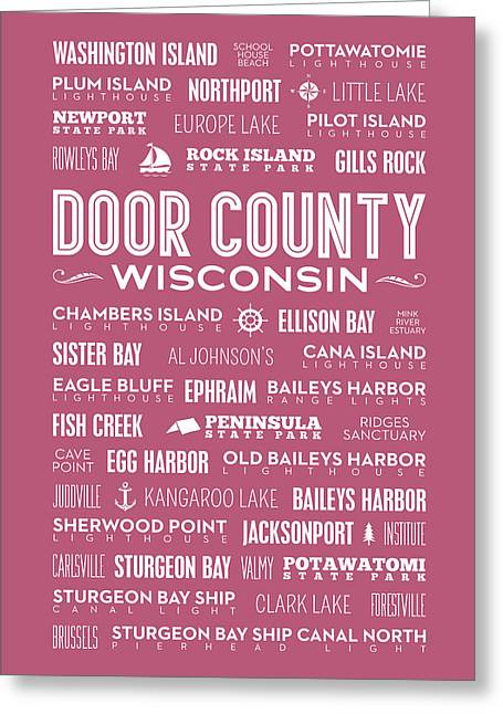 Places Of Door County On Wine Greeting Card by Christopher Arndt