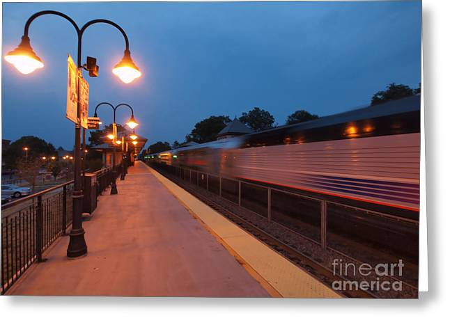 Valerie Morrison Greeting Cards - Plainfield Train Station Greeting Card by Valerie Morrison