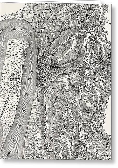 Plan Of The Siege Of Vicksburg Greeting Card by American School