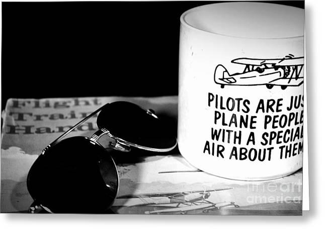 Manual Greeting Cards - Plane Old Mug Greeting Card by JW Hanley