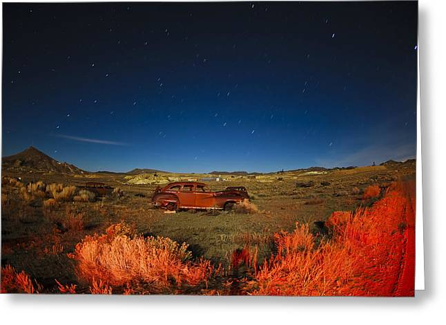 Rusted Cars Greeting Cards - Planet Earth Greeting Card by Bryan Steffy