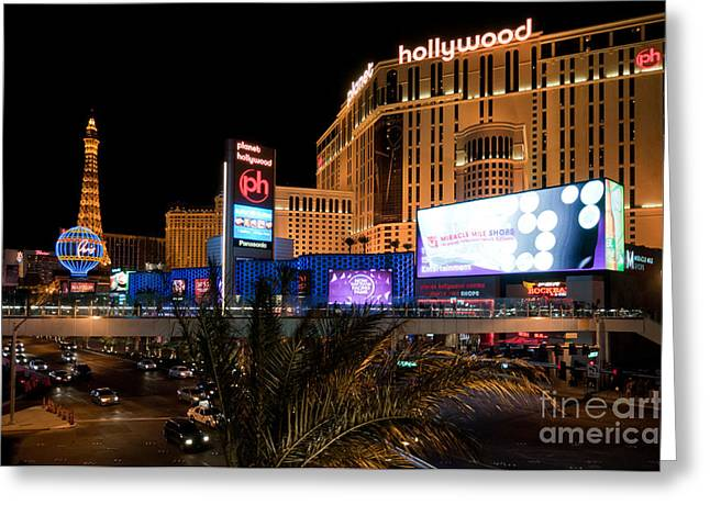 Planet Hollywood Hotel Greeting Card by Andy Smy