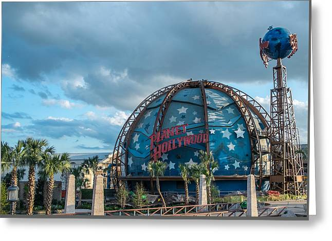 Planet Hollywood Greeting Card by Louis Ferreira