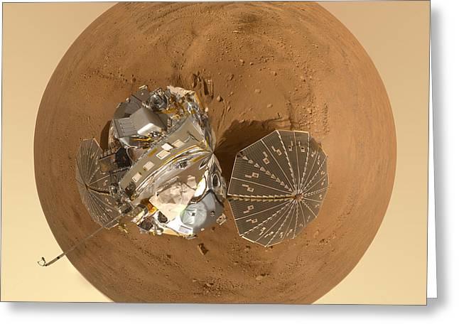 Planet Mars Via Phoenix Mars Lander Greeting Card by Nikki Marie Smith