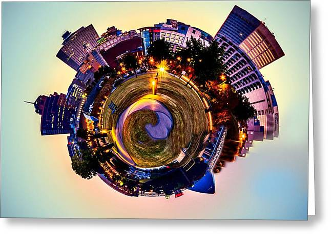 Creative Manipulation Digital Greeting Cards - Planet Memphis - Contemporary Digital Art Greeting Card by Barry Jones