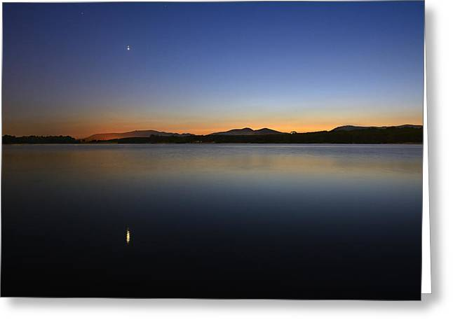 Pleiades Greeting Cards - Planetary conjunction  Jupiter  and Venus Greeting Card by Guido Montanes Castillo