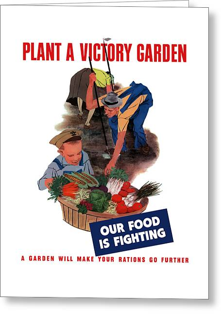 United States Greeting Cards - Plant A Victory Garden  Greeting Card by War Is Hell Store