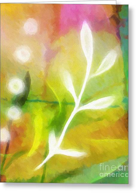 Dimension Greeting Cards - Plant of Light Greeting Card by Lutz Baar