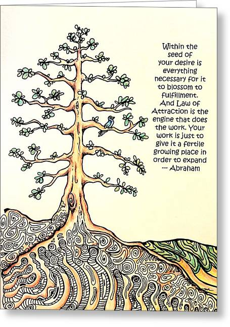 Tree Roots Mixed Media Greeting Cards - Plant the seeds Greeting Card by Kelly Morgan