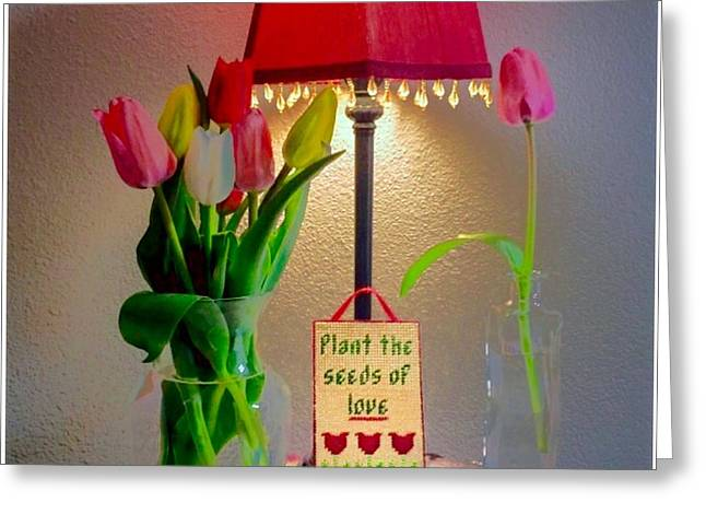 Plant The Seed Greeting Cards - Plant The Seeds Of Love Greeting Card by Susan Garren