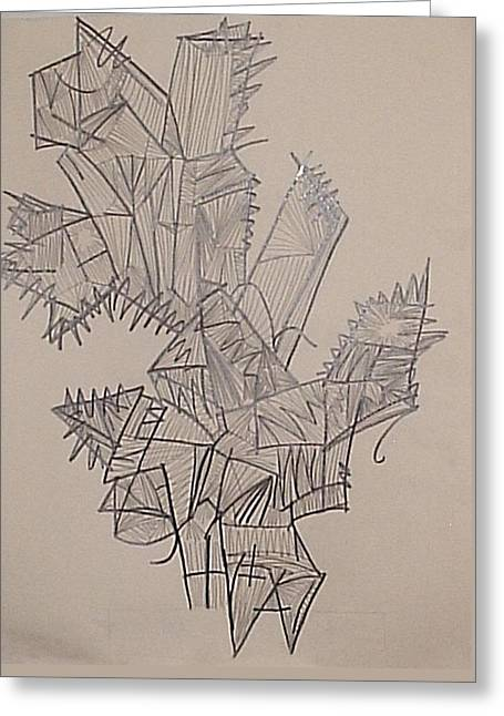 Asexual Drawings Greeting Cards - Plant Greeting Card by William Douglas
