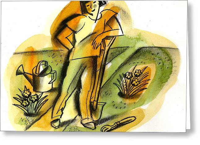Planting Greeting Card by Leon Zernitsky