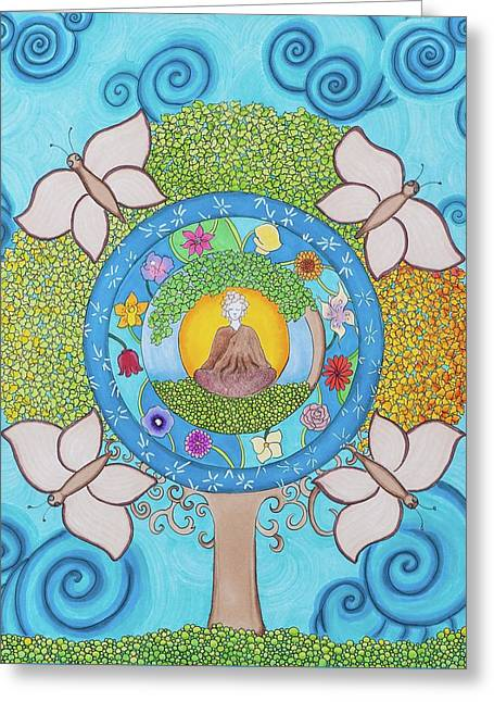 The Nature Center Drawings Greeting Cards - Planting Seeds of Change Greeting Card by Heather Mulvenna