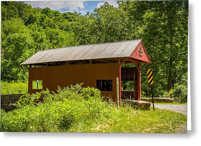 Plants Covered Bridge Greeting Card by Jack R Perry