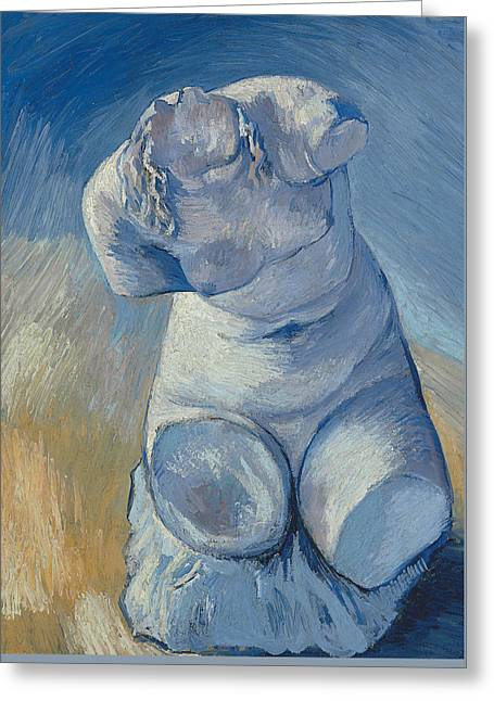 Plaster Statuette Female Torso Greeting Card by Vincent Van Gogh