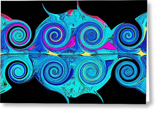 Abstract Expression Greeting Cards - Plastic Oceans Greeting Card by Alec Drake