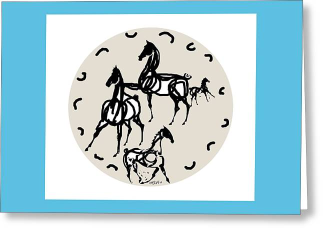 Round Ceramics Greeting Cards - Plate 2 Greeting Card by Mary Armstrong