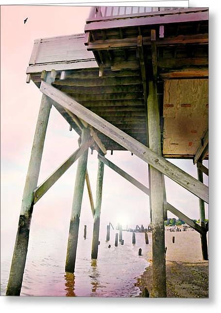 Stilt House Greeting Cards - Platform Greeting Card by Diana Angstadt