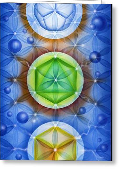 Platonic Greeting Cards - Platonic Solids Greeting Card by Drew Brophy