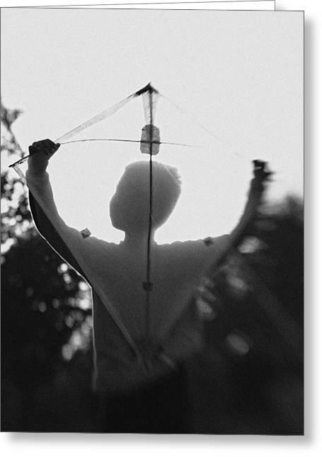 Shadows Greeting Cards - Play A Kite #2 Greeting Card by Jay Satriani