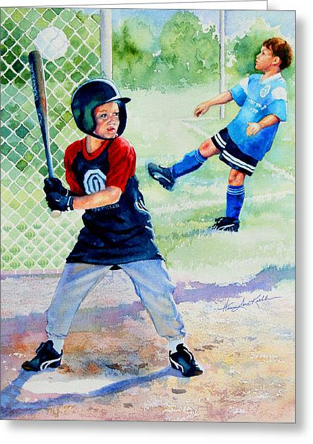 Play Ball Greeting Card by Hanne Lore Koehler