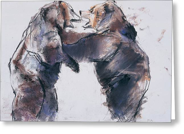 Competition Pastels Greeting Cards - Play fight Greeting Card by Mark Adlington