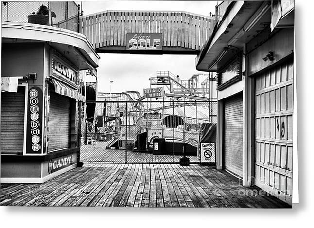 Seaside Heights Greeting Cards - Play Golf Greeting Card by John Rizzuto