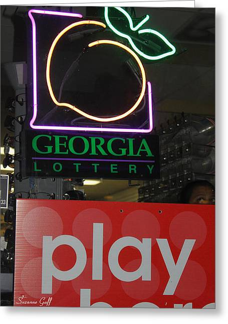 Lottery Greeting Cards - Play Here Greeting Card by Suzanne Gaff