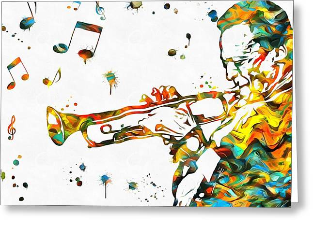 Play It Miles Greeting Card by Dan Sproul