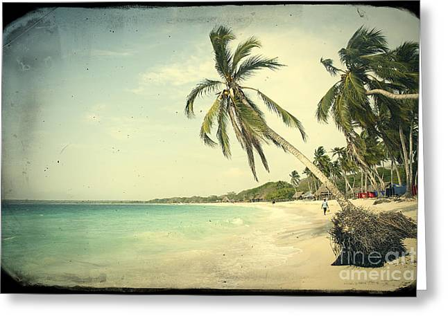 Playa Blanca Greeting Cards - Playa Blanca in Colombia Greeting Card by A Cappellari
