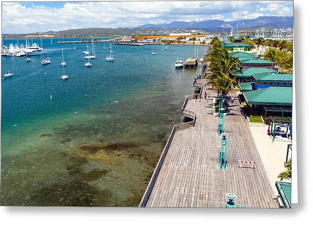 Yacht Basin Greeting Cards - Playa de Ponce Greeting Card by George Oze