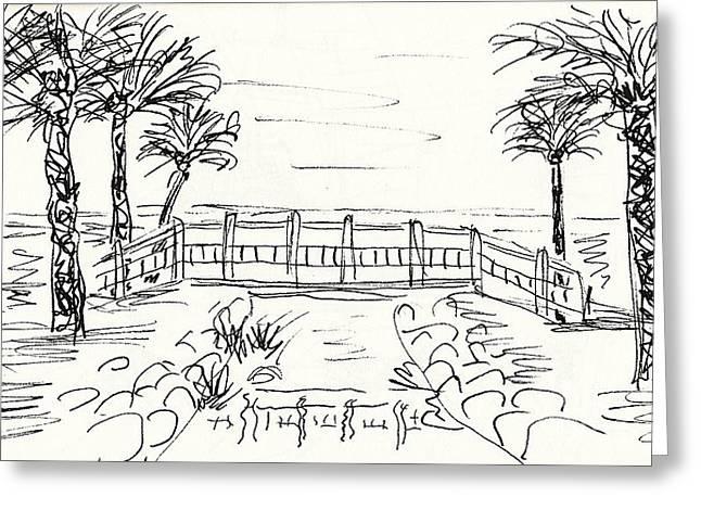 Playa Playamar In Torremolinos Greeting Card by Chani Demuijlder