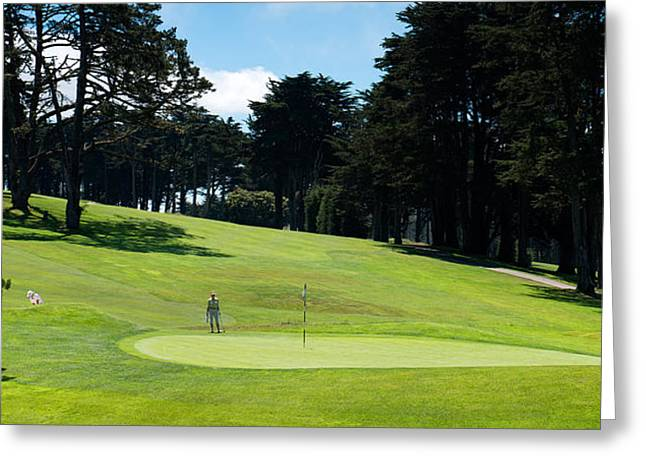 Player At Presidio Golf Course, San Greeting Card by Panoramic Images