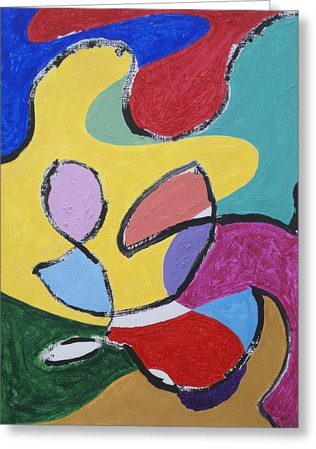Abstract Shapes Greeting Cards - Joy Greeting Card by Stormm Bradshaw