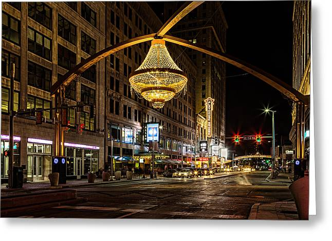 City Lights Greeting Cards - Playhouse Square Greeting Card by Dale Kincaid