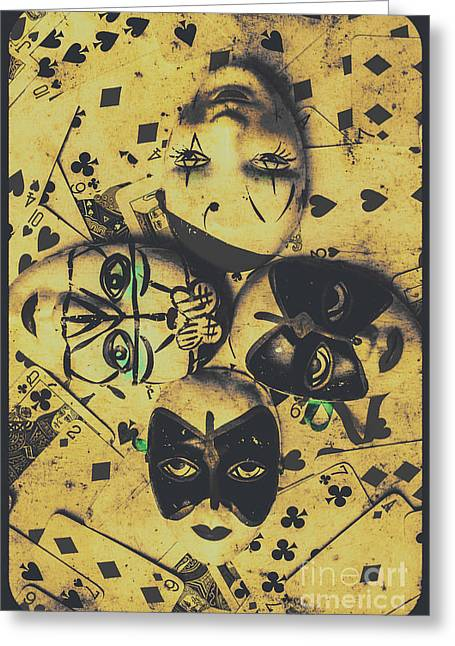 Playing Card Of A Vintage Masquerade Greeting Card by Jorgo Photography - Wall Art Gallery