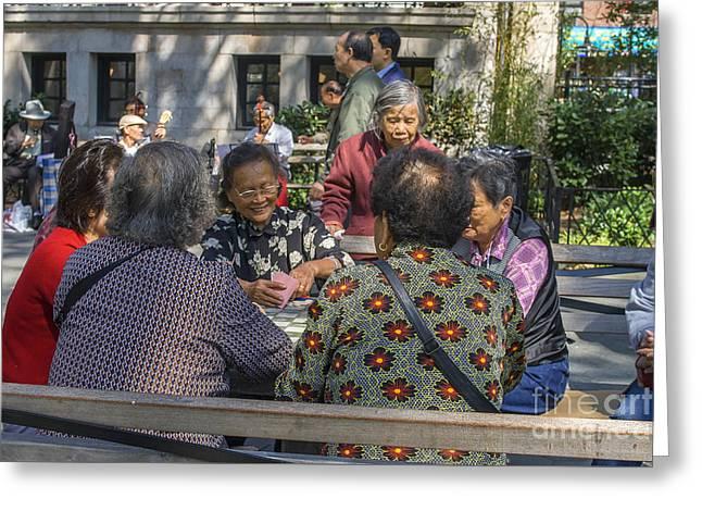 Playing Cards Greeting Cards - Playing cards in Chinatown Greeting Card by Patricia Hofmeester