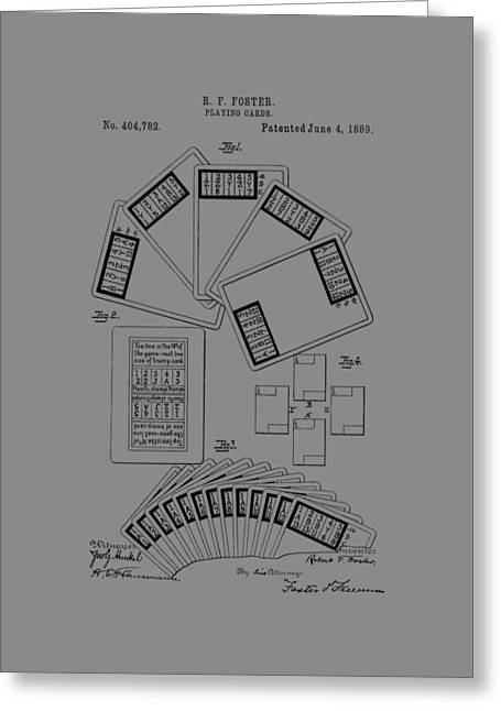 Playing Cards Greeting Cards - Playing Cards Patent 1889 Greeting Card by Chris Smith