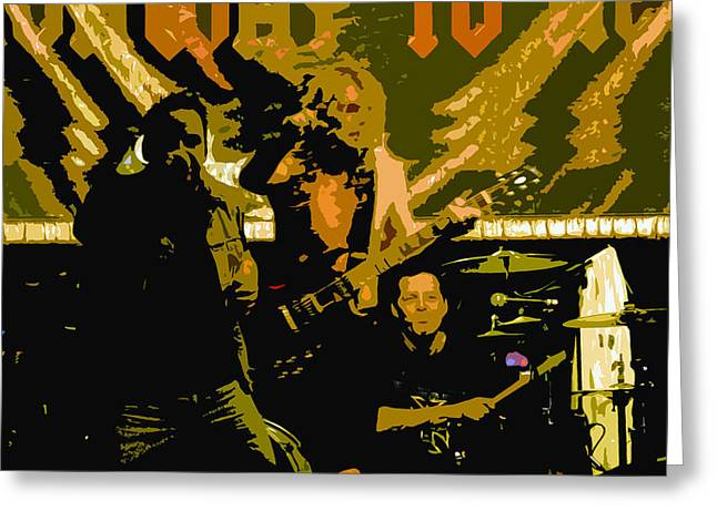 Acdc Greeting Cards - Playing hard Greeting Card by David Lee Thompson