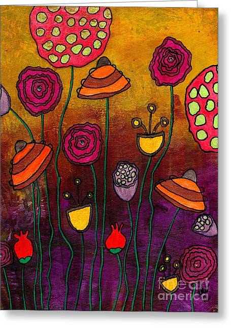 Survivor Art Greeting Cards - Playing Make Believe Greeting Card by Angela L Walker