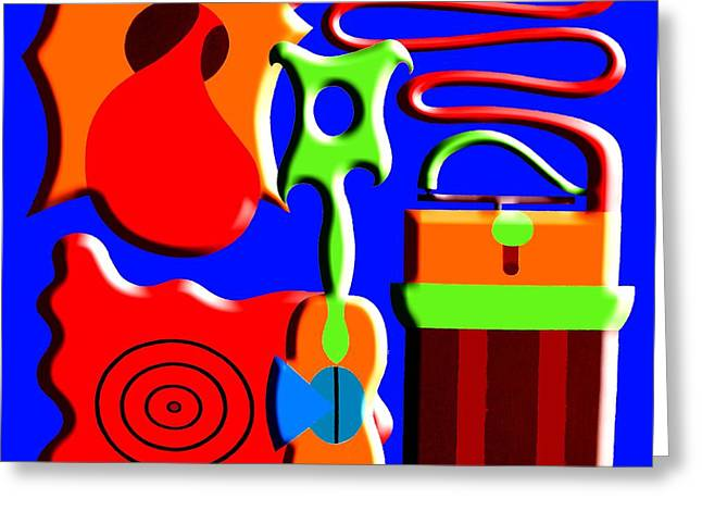 Guitar Player Mixed Media Greeting Cards - Playing Music Greeting Card by Patrick J Murphy