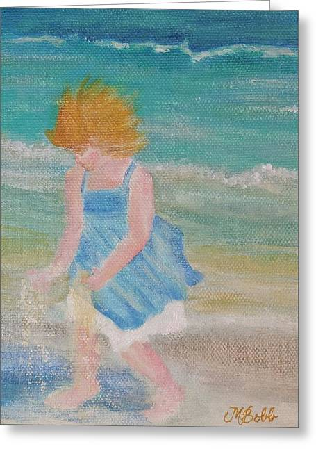 M Bobb Greeting Cards - Runs with Sand Greeting Card by Margaret Bobb