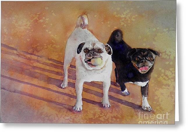 Playtime Greeting Card by Amy Kirkpatrick