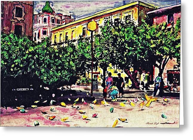 Plaza In Murcia Greeting Card by Sarah Loft