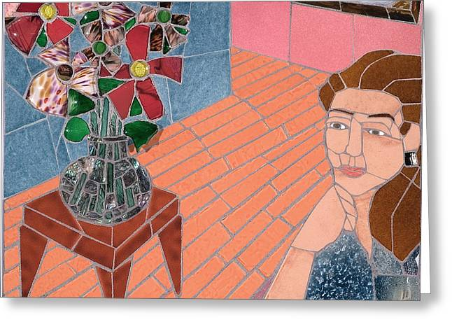 Mosaic Ceramics Greeting Cards - Pleasant Thoughts Greeting Card by Jonathan Mandell