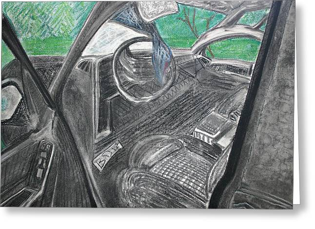 Driving Pastels Greeting Cards - Please do not drink and drive and wear a seat belt Greeting Card by Desiree Aguirre