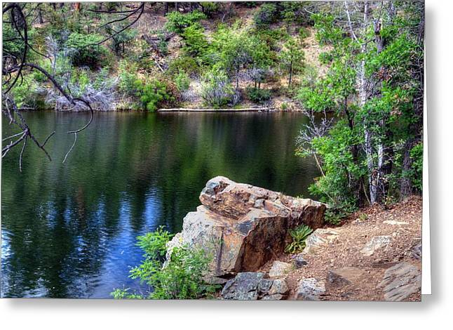 Watson Lake Greeting Cards - Pleasing Thoughts Greeting Card by Thomas  Todd