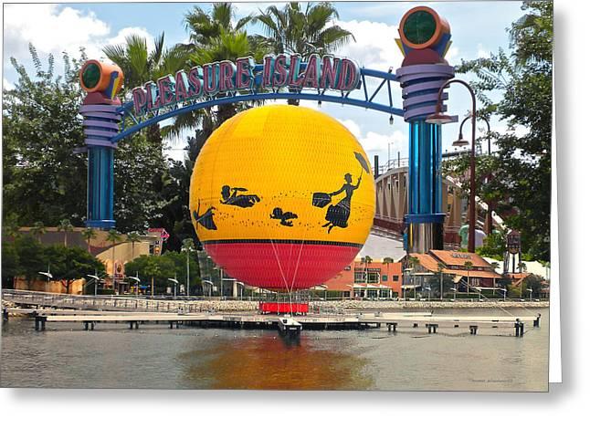 Princes Greeting Cards - Pleasure Island Walt Disney World Greeting Card by Thomas Woolworth