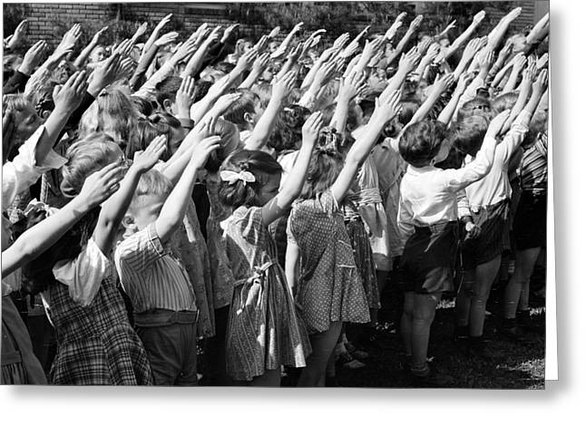 Pledge Of Allegiance, 1942 Greeting Card by Science Source